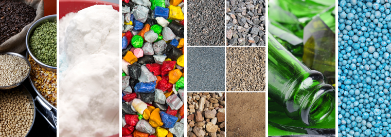 Materials handled by vibratory screen equipment